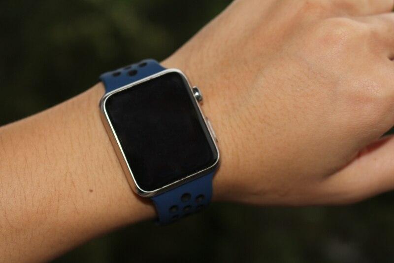 official images pre order the latest € 3.58 22% de réduction|Bande d'urvoi pour montre Apple Nike + série 4 3 2  1 bracelet en silicone respirant léger pour iWatch couleurs officielles ...