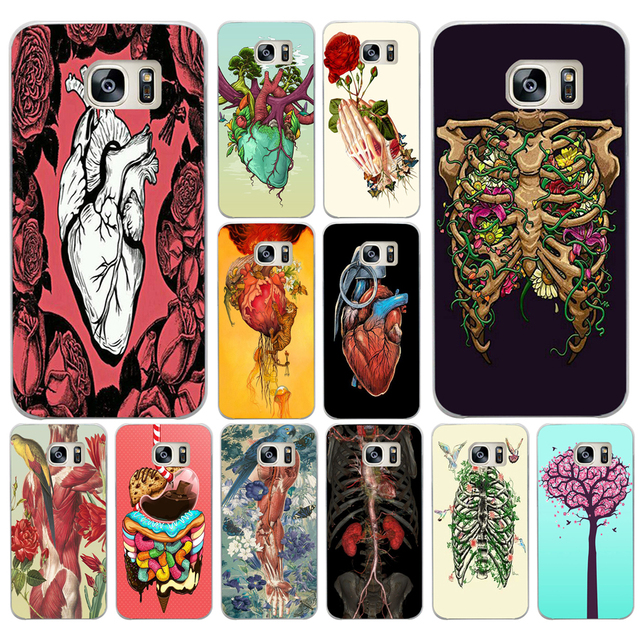 058aa Case Designs Human Anatomy Hard Transparent Cover Case For
