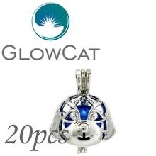 GLOWCAT-Colgante para collar plata de primera ley diseño jaula para mujer, colgante para collar, Gargantilla, plata esterlina 925, Circonia cúbica, zirconia, circonita, zirconita, aceite esencial, 20x, KK689