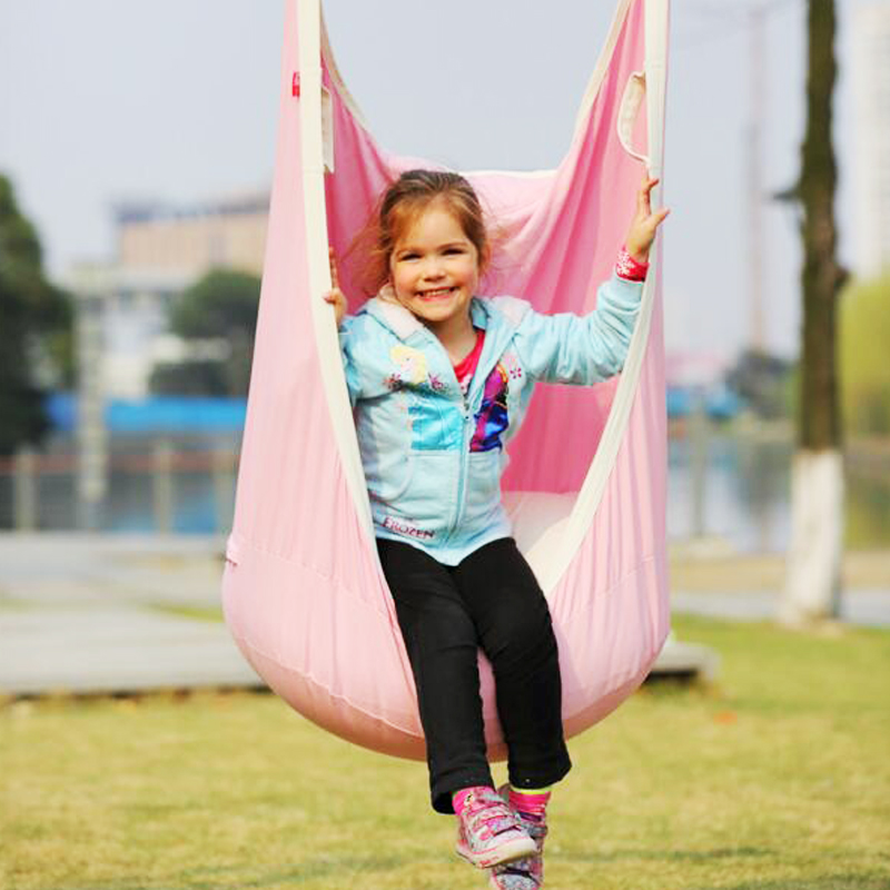 Garden Swing For Children Baby Inflatable Hammock Hanging Swing Chair Kids Indoor Outdoor Pod Swing Seat Sets C036 Free shipping new kids pod swing chair nook hanging seat hammock nest for indoor and outdoor use great for children kids 7 types