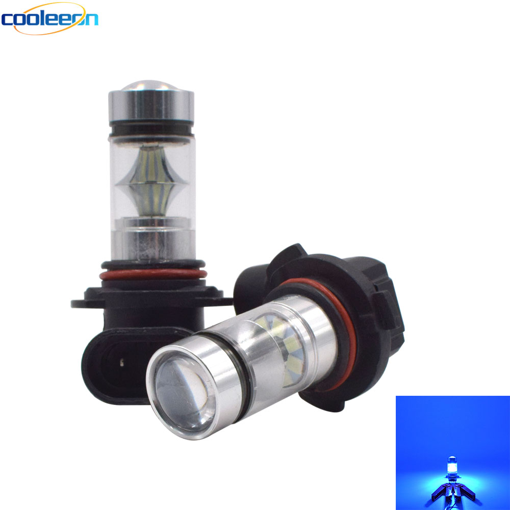 100W Automobile <font><b>LED</b></font> Light Cold Blue Car Fog Lamp Bulb <font><b>H4</b></font> H7 H10 H11 9005 9006 <font><b>LED</b></font> Lighting 1000LM Vehicle Auto Decor Lights image