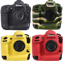 все цены на Lightweight Camera Bag Case Protective Cover for NIKON D4 D4S Black Camouflage yellow red colour онлайн