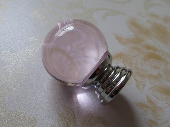 Pink Glass Knobs Crystal Dresser Drawer Knobs Handles Light Pale Shabby Chic / Modern French Country Cabinet Handle Pull Knob css clear crystal glass cabinet drawer door knobs handles 30mm