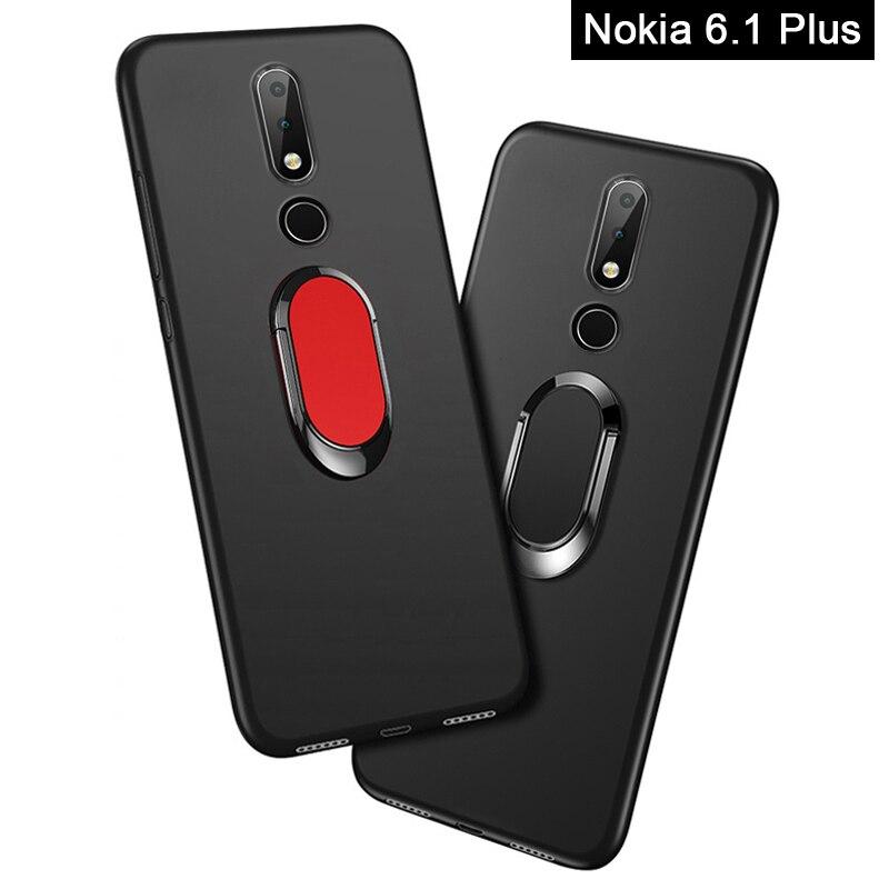 Case for Nokia X6 2018 Phone Cover for Nokia 6.1 Plus Case luxury 5.8 inch Soft Black Silicone Coque for Nokia 6.1 Plus Cases