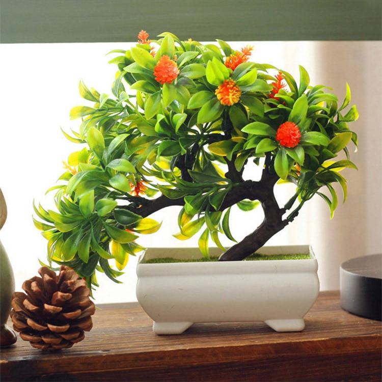 Artificial plants mini bonsai for office home decoration for Artificial trees for home decoration