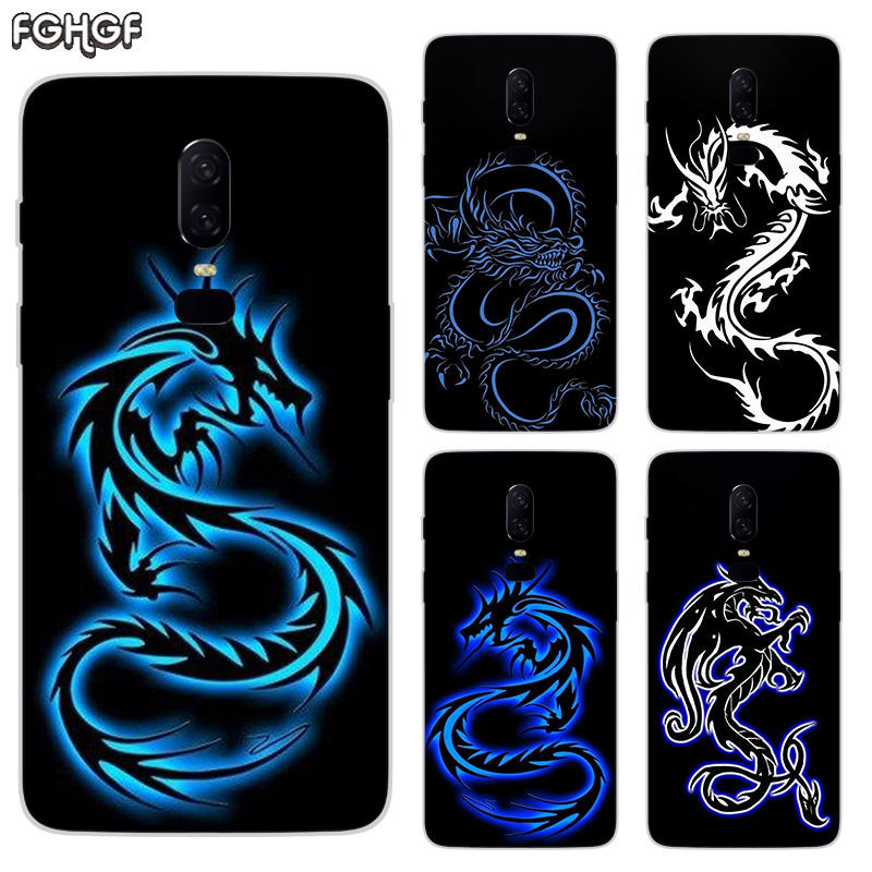 Beautiful Dragon Sketch Luxury Soft TPU Silicone Phone Back Case For OnePlus 5 5T 6T 6 Frosted Fundas Printed Cover