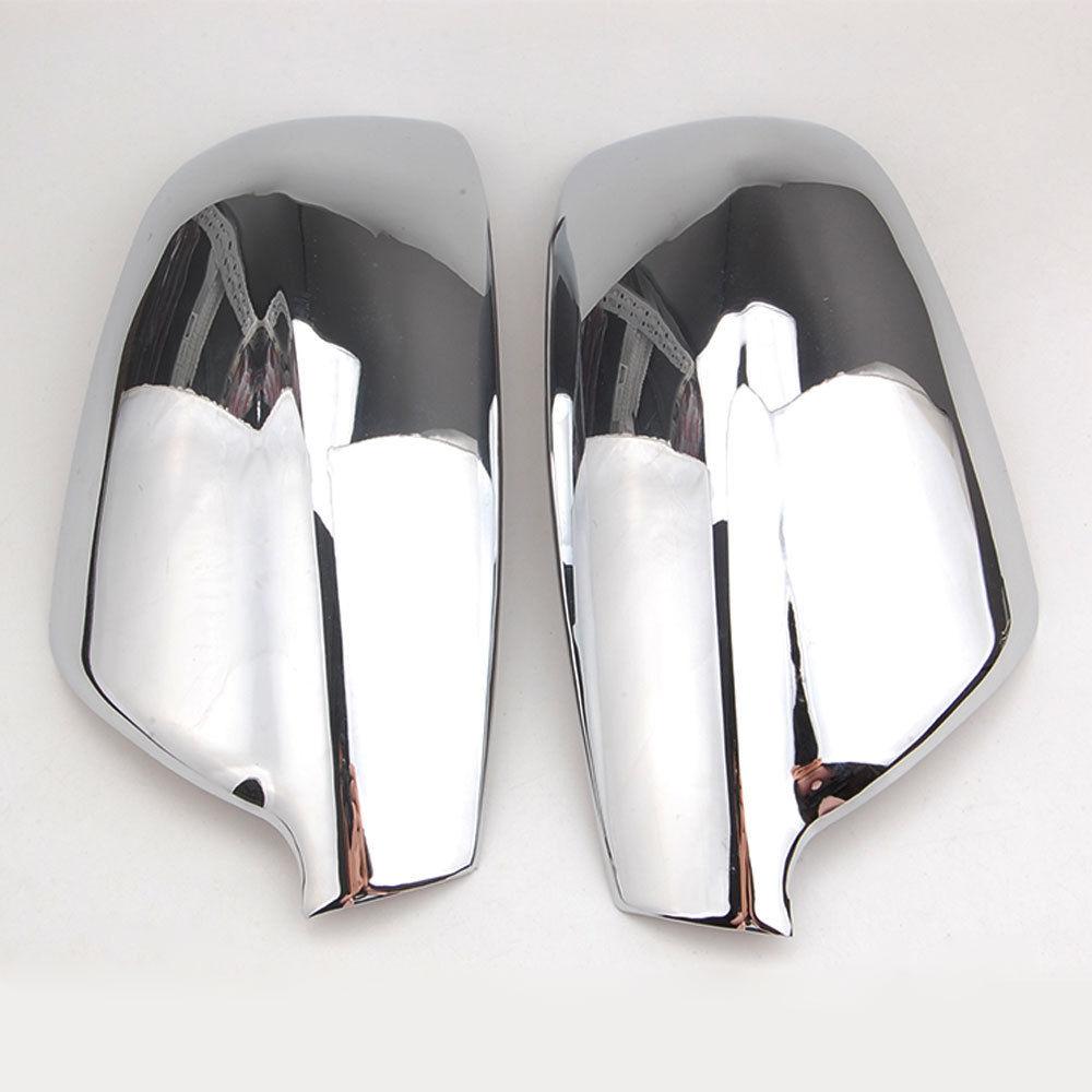 BBQ@FUKA For Peugeot 307 CC SW 407 Car Door Side Wing Mirror Rear View Cap Cover Car Exterior Protector Trim Car Accessories