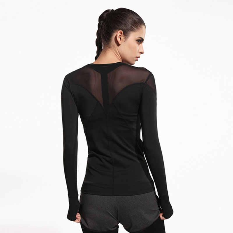e79f27cca9c75 ... Heal Orange Women Mesh Hollow Yoga Top Full Sleeve Sport T Shirt Quick  Dry Fitness Clothing ...