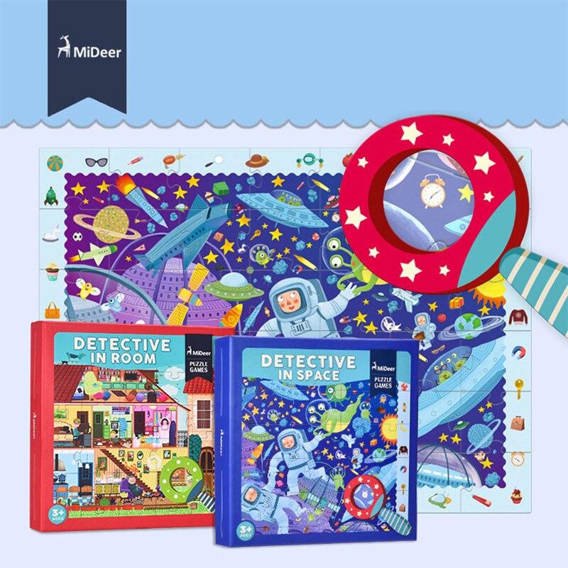 MiDeer 42 pcs Bande Dessinée Match Puzzle Jeux Détective En Salle de L'espace Enfants Cadeaux Creative Jouets Éducatifs Pour Enfants