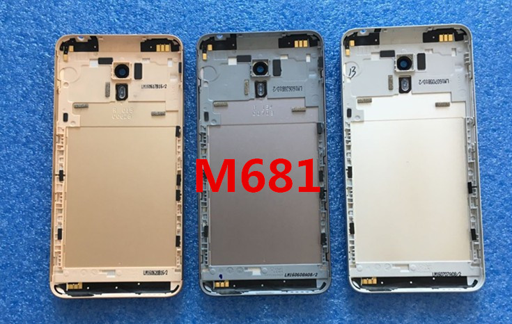 "Back cover Battery Cover+ glass lens No side keys For 5.5"" Meizu M3 Note or L681H Gray/Gold/ Silver free shipping"