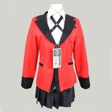 Anime Kakegurui przebranie na karnawał Jabami Yumeko przebranie na karnawał japoński mundurek szkolny dziewczyny stroje damskie garnitury
