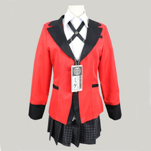 Fantasia para cosplay de anime kakegurui, traje japonês para meninas e meninos, uniforme escolar