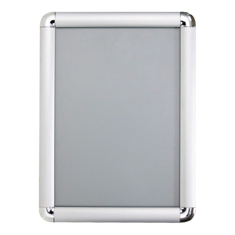 158x236 single side silver aluminum snap picture frame with round corner led lightbox for postermenugraphics