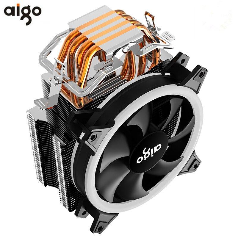AIGO E3 4 Heatpipes enfriador de CPU para AMD Intel 775, 1150, 1151, 1155, 1156 CPU radiador 120mm 4pin de refrigeración ventilador de CPU PC tranquilo