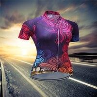 SUSHAN Frauen Bike Team Top Radfahren Jersey Ciclismo Mtb Fahrrad Grun Rote Weibliche Gesicht Kleidung Sportbekleidung