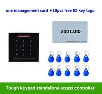 Standalone Access Control Keypad RFID Reader 125KHz ID Door Access Control System 1pcs Management Card 10pcs