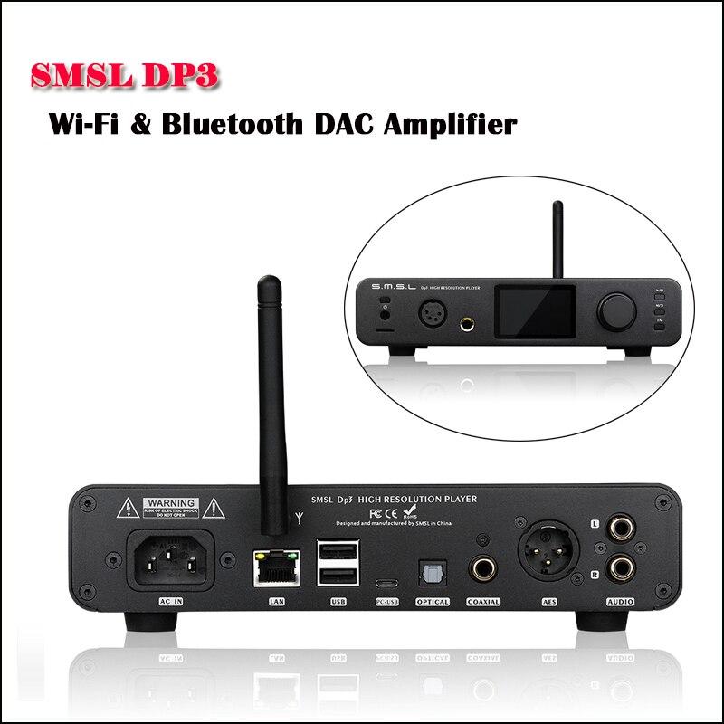 SMSL DP3 Desktop Balanced DAC Auido Amplifier ES9018Q2C USB DAC DSD Digital Player Hifi Amplifier Bluetooth Audio Amp