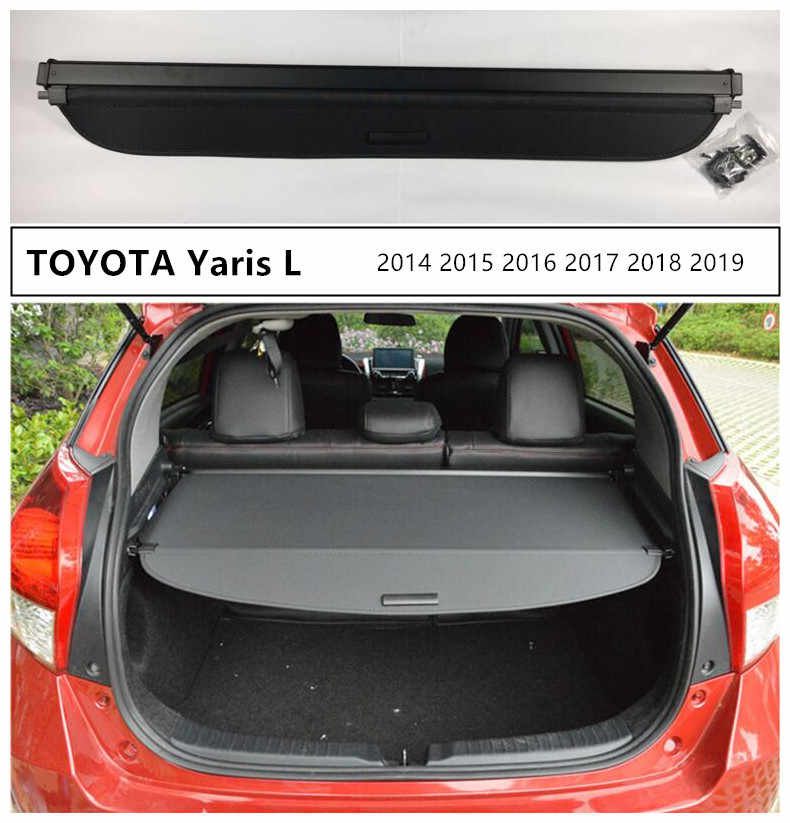 Rear Trunk Cargo Cover For Toyota Yaris L 2014 2015 2016 2017 2018 2019 2020 High Qualit Security Shield Car Accessories Cargo Cover Car Rear Trunkcargo Trunk Cover Aliexpress