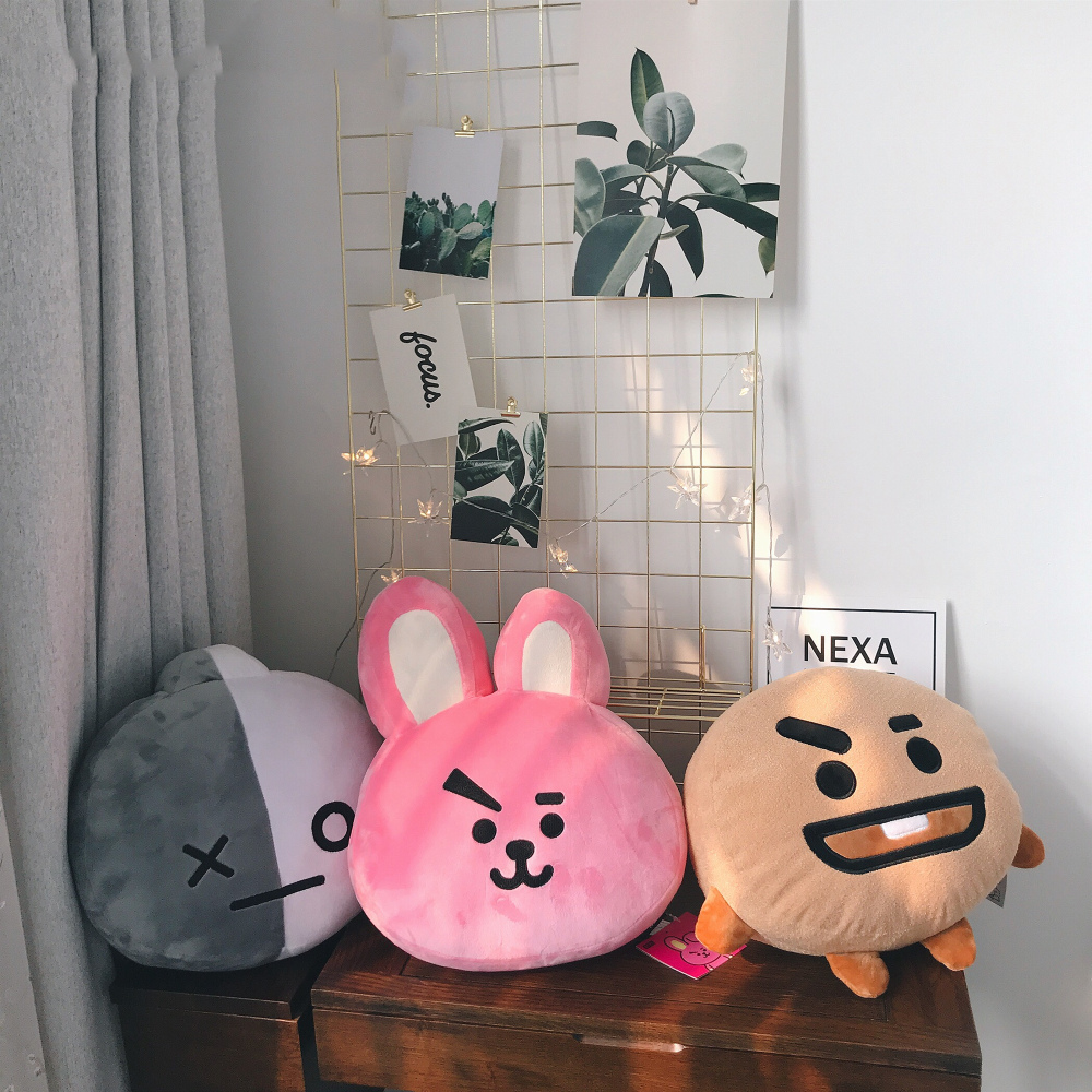 1pc 35cm BT21 TATA VAN Bangtan Boys Plush Pillow Sofa Cushion Home Decor Present Toys Children