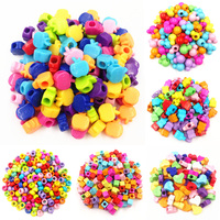 LNRRABC 50/200pcs Hot Lovely Heart Rabbit Mouse DIY Jewery Beads Acrylic Loose Beads Bracelets Necklace Accessories