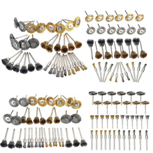 36Pcs Brass Brush Steel Wire Wheels Brushes Drill Rotary Too