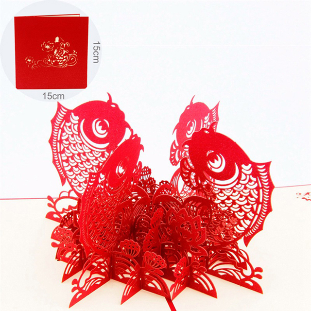 3d pop up greeting card chinese new year fish surplus year after 3d pop up greeting card chinese new year fish surplus year after year christmas greeting card m4hsunfo