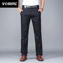 Vomint 2020 ใหม่บุรุษที่เรียบง่าย Leisure Slim กางเกงกางเกงตรงชายชุดทำงานกางเกง MS7068