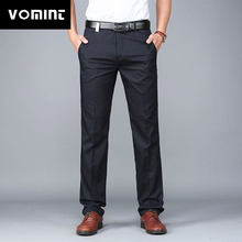 Vomint 2020 New Mens Pants Solid Simple Leisure Slim Pants Trousers All match Male Mens Work Suit Pants MS7068