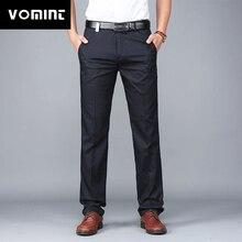 Vomint pantalones de ocio para hombre, pantalones ceñidos sencillos y lisos, que combinan con todo, para el trabajo, MS7068, novedad de 2020