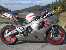 Hot Sales,For Kawasaki Ninja Parts ZX-6R 05 06 ZX6R 636 ZX636 2005 2006 Flame ABS Motorcycle fairings kit (Injection molding)