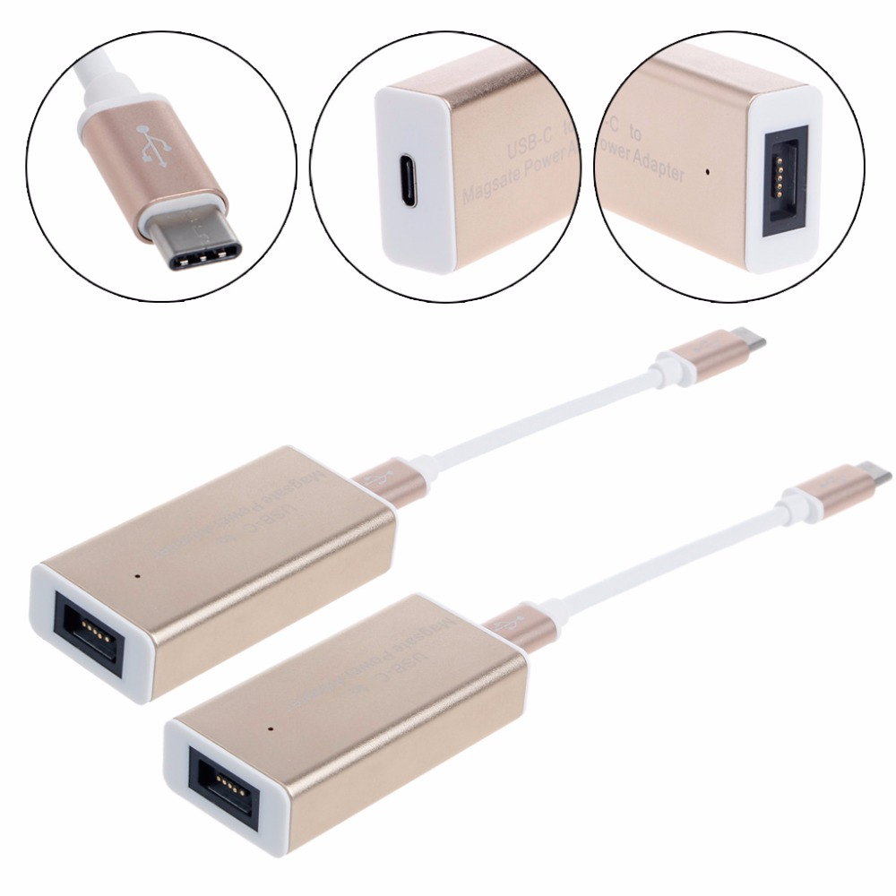 USB Type-C To Magsafe1 Magsafe2 Power Converter Adapter Cable For Apple Macbook 45W 60W 85W Laptop 45w magsafe 2 power adapter charger for apple macbook air 11 13