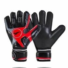 Утолщенные латексные ПВХ профессиональные детские мужские вратарские перчатки, футбольные 5 пальцев, сохраняющие охранники, Вратарские футбольные перчатки