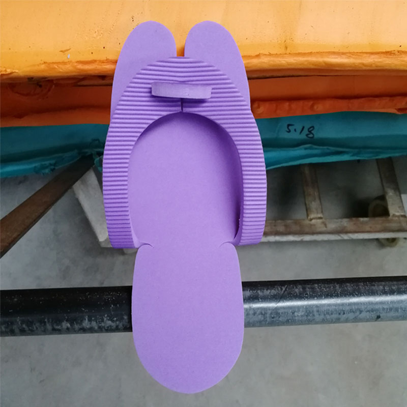 15pairs/set Nail Salon Disposable Foam Pedicure Spa Flip Flop Slippers Sandal Purple