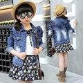 Girls Clothing Sets Cotton Blouses & Floral Tutu Skirts 2Pcs Spring Autumn Girls School Uniform Kids Outfits 2 4 6 8 10 12 Years