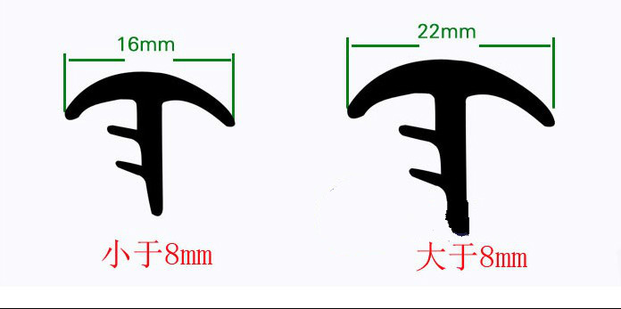 T Type 1.6M Car Front Windshield Center Console Instrument Table Seal Car With Rubber Noise Bar Car Interiors Supplies