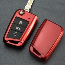Icecare Acessórios Chave Do Carro Chave do Caso Cobrir Para VW Golf 7 para Volkswagen Golf 7 mk7 para Skoda para Octavia A7 Silicone Keychain