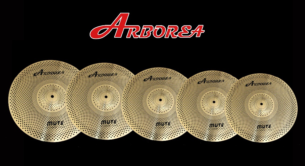 Golden Color Low volume cymbals/Silence Cymbal Set most popular arborea low volume cymbal silence cymbal set with bag