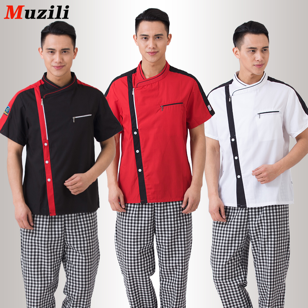 M xxxl uniforme de chef 2016 summer new fashion chefuniforms for men and women short sleeve cool - Uniformes de cocina ...