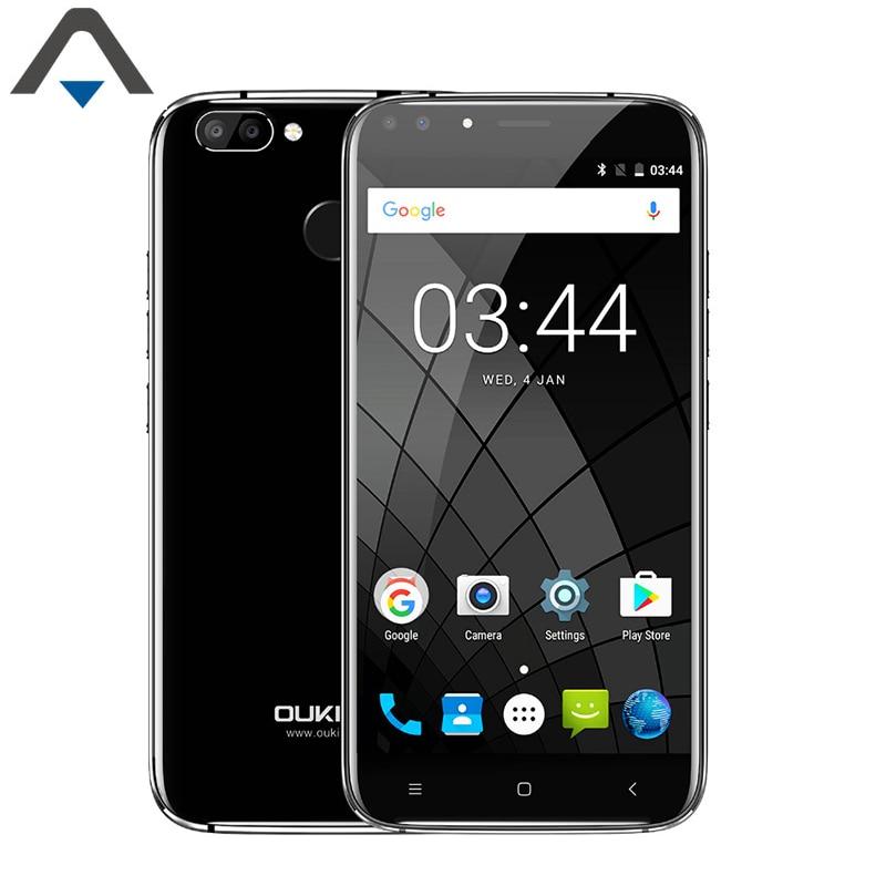 Original Oukitel U22 3G Smart Phone Android 7 Octa Core 5.5 inch 2GB RAM 16G ROM 2700mAh Fingerprint phone MT6580A dual card