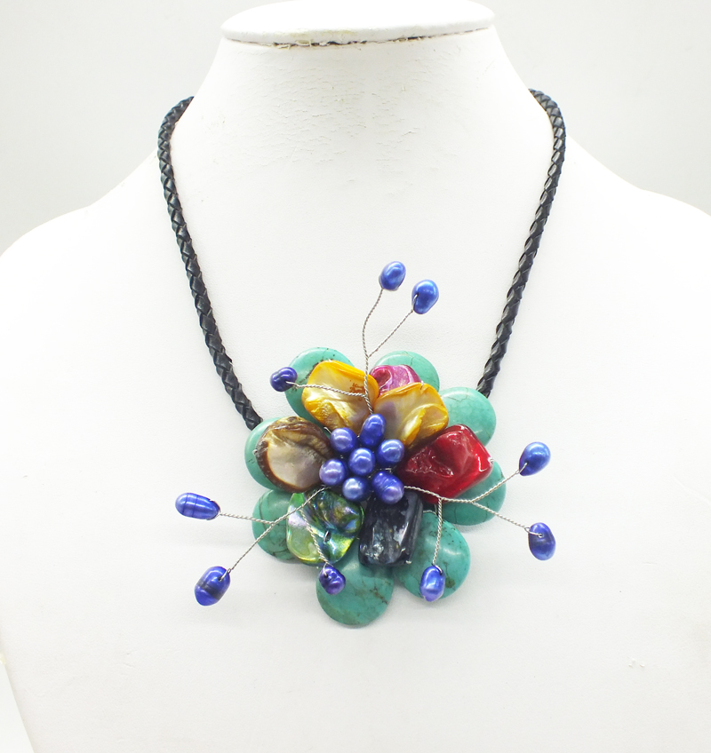 2018-12-18-1136#  Like, you buy it  ! ! Last necklace  shell.pearl  flower necklace