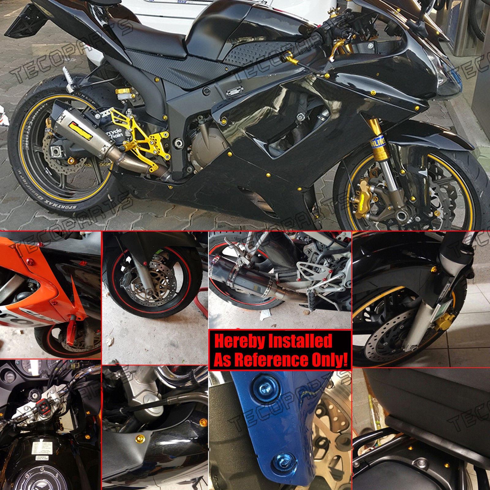 Blue Motorcycle Fairing Bolts Kit Screws Clips For Yamaha R1 R6 R6S FZ1 FZ6 FZ8