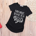 Cotton Fashion Vogue Boy Girl Summer Tops Letter Print Short Sleeve T Clothing 2-7Y