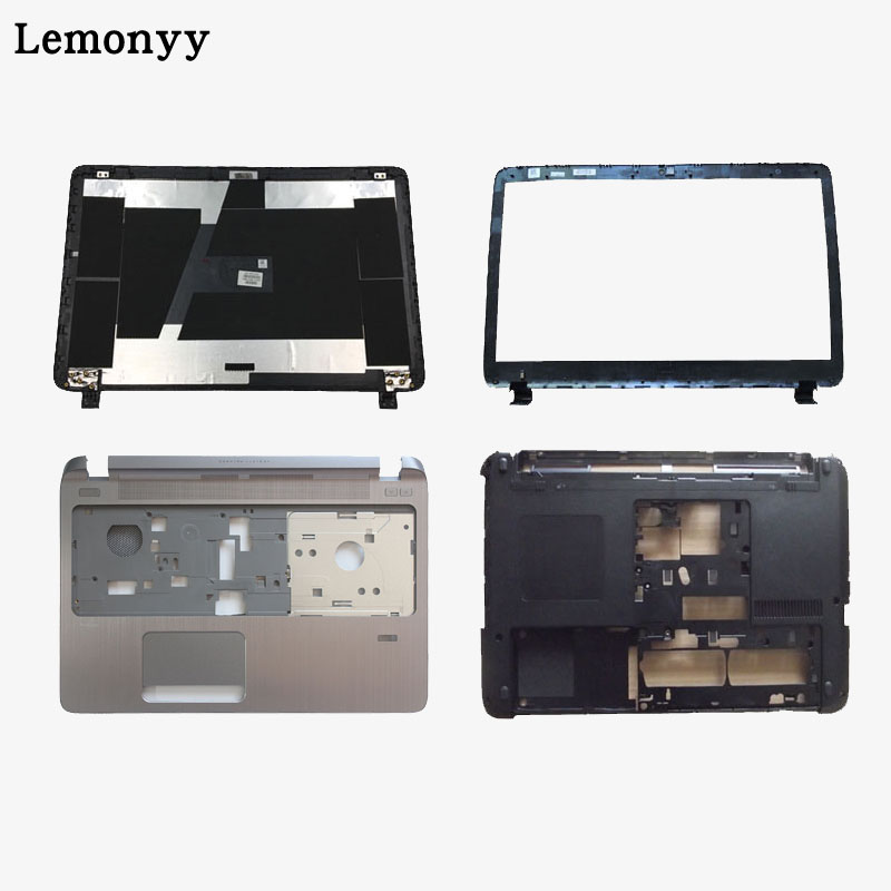 Laptop LCD TOP Cover for HP Probook 450 455 G2 LCD Front bezel/Palmrest Upper With touchpad/Bottom case cover 791689-001 new top cover upper case for hp 450 455 palmrest 685762 001 6070b0591701 gray