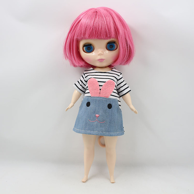 Factory Blyth Doll Nude Doll Plump Blyth Red Short Hair 4 Colors For Eyes Suitable For DIY