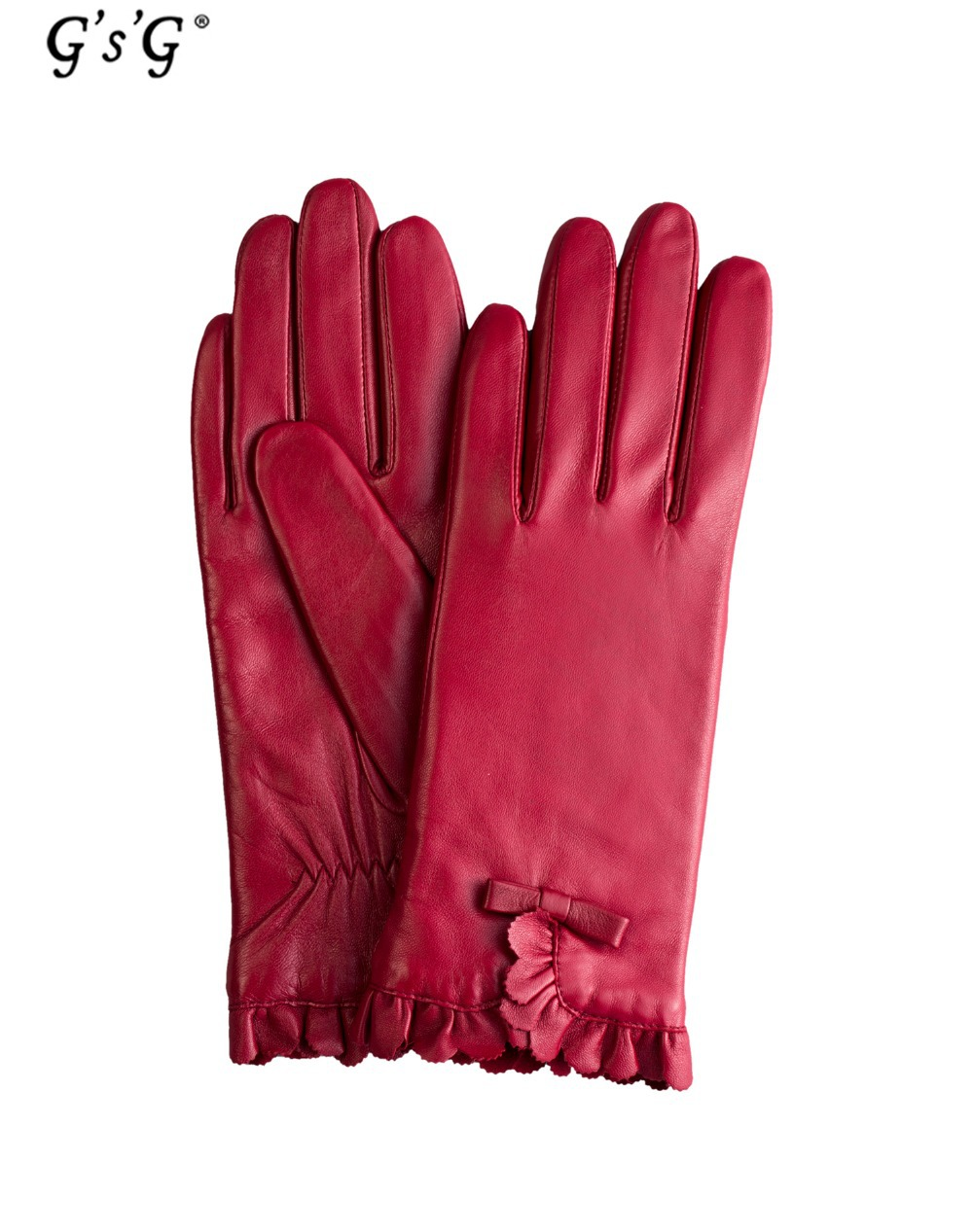 Buy ladies leather gloves online - Gsg New Floral Designer Genuine Leather Gloves For Fashion Womens Fingers Warm Ladies Luvas Online Shopping