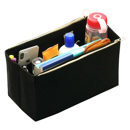 Купить с кэшбэком Customizable Felt Tote Organizer (w/ Double Zipper Pockets) Neverfull MM GM PM Speedy 30 25 35 40 Purse Insert Diaper Bag