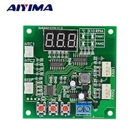 Aiyima DC 12 24 В 48 В 2-путь независимого 4-Провода ШИМ Контроль температуры Скорость вентилятора Управление;
