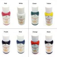 8 Cores De Tinta Para Airbrush Nail Art Pigmento de Cor Básica conjuntos de escova De Ar Prego Acessórios Unhas Pigmentos para Stencils Prego pintura