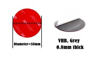 Image 2 - 1000 יח\חבילה 58mm עגול 3M VHB 5608 דו צדדי דבק אקריליק קצף קלטת הרכבה קלטת אפור קוטר 58mm דיסק מעגל