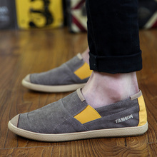 2019 spring new mens shoes lazy one pedal casual canvas male Korean version of the trend old Beijing cloth